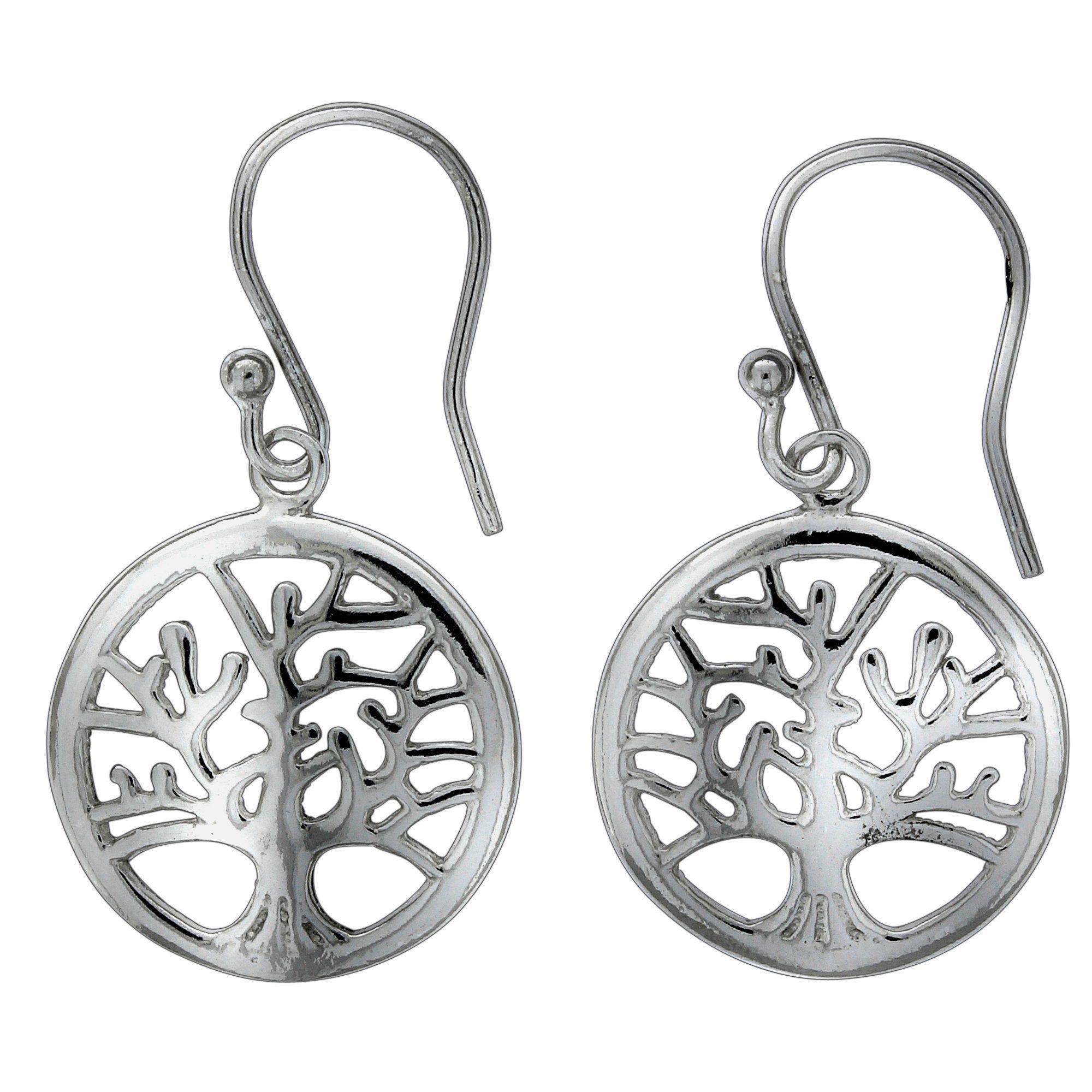 Vivance Paar Ohrhaken »925/- Sterling Silber Lebensbaum«, rhodiniert günstig online kaufen