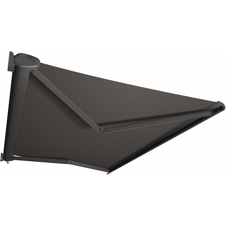 Kassettenmarkise Perform 400 x 300 cm Gestell Anthrazit Tuch Grau günstig online kaufen