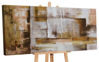 "YS-Art™ ""Gemälde Acryl """"Abstraktion VII"""" handgemalt auf Leinwand 120x60 c günstig online kaufen"