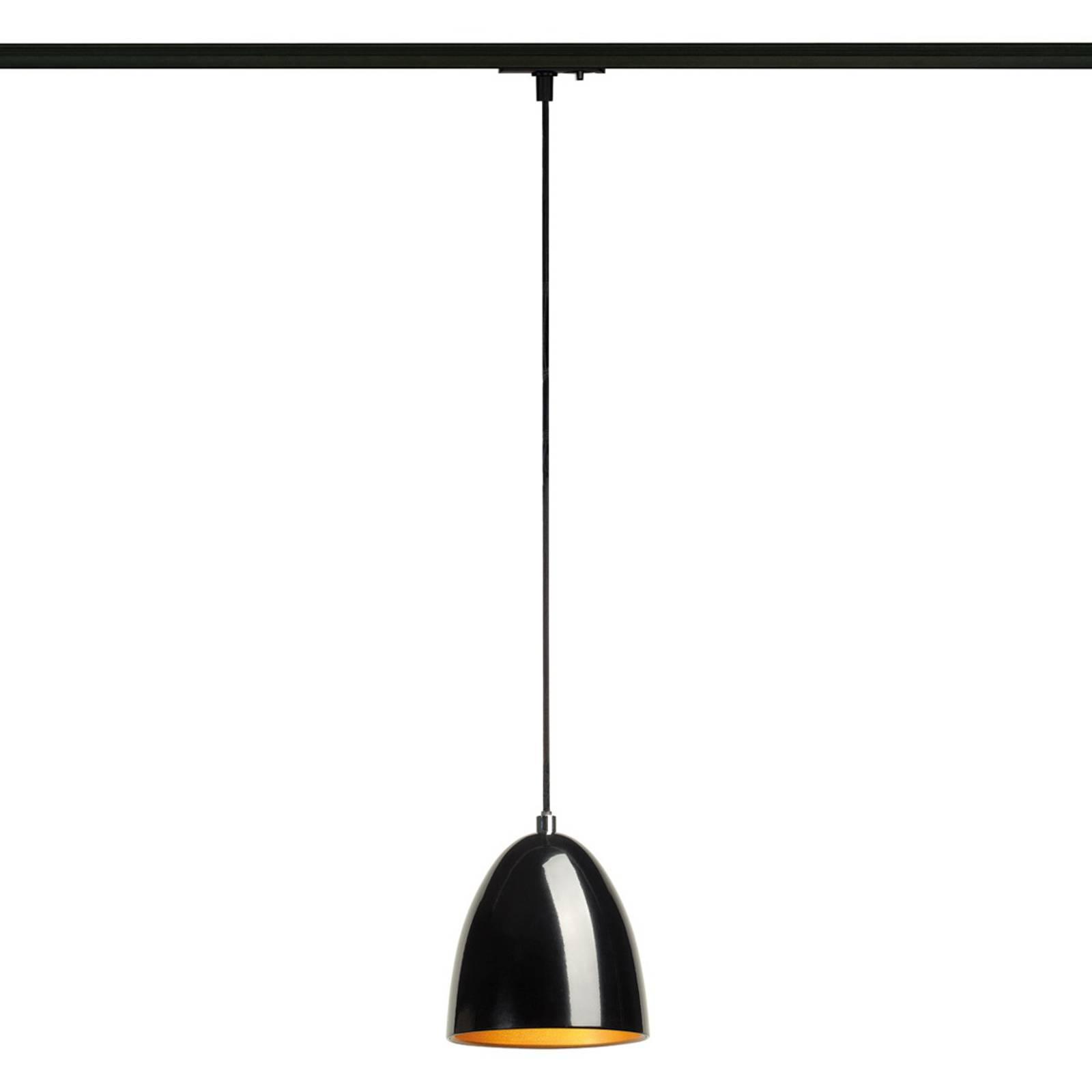 SLV Para Cone Hängeleuchte 1-Phasen schwarz/gold günstig online kaufen