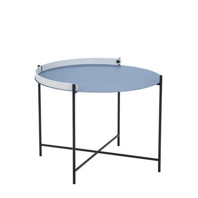 Edge Couchtisch / Mit Klappgriff -Ø 62 x H 46 cm - Houe - Blau günstig online kaufen