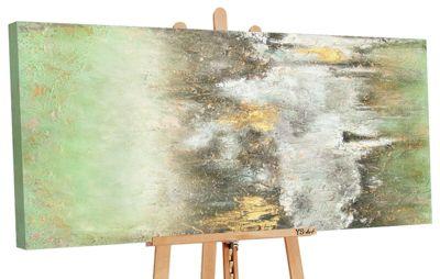 """YS-Art™ """"Gemälde Acryl """"""""Ruhe vorm Sturm"""""""" handgemalt auf Leinwand"""" grün Gr günstig online kaufen"""