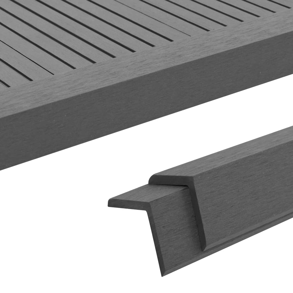 Terrassen-winkelleisten 5 Stk. Wpc 170 Cm Grau günstig online kaufen