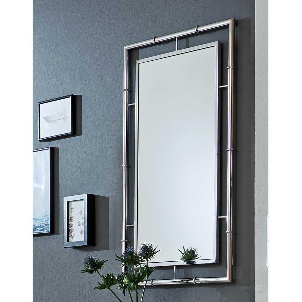 Garderoben Spiegel in Chromfarben Metallrahmen günstig online kaufen