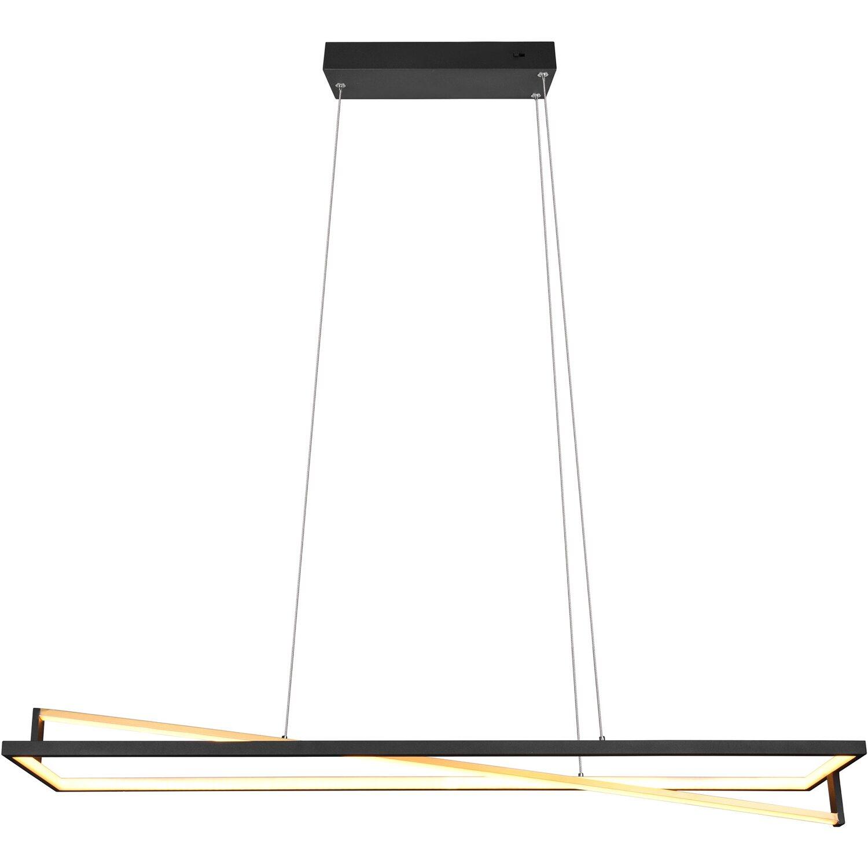 LED-Pendelleuchte Edge 35W 4100 lm Switch Dimmer Schwarz/Messing günstig online kaufen