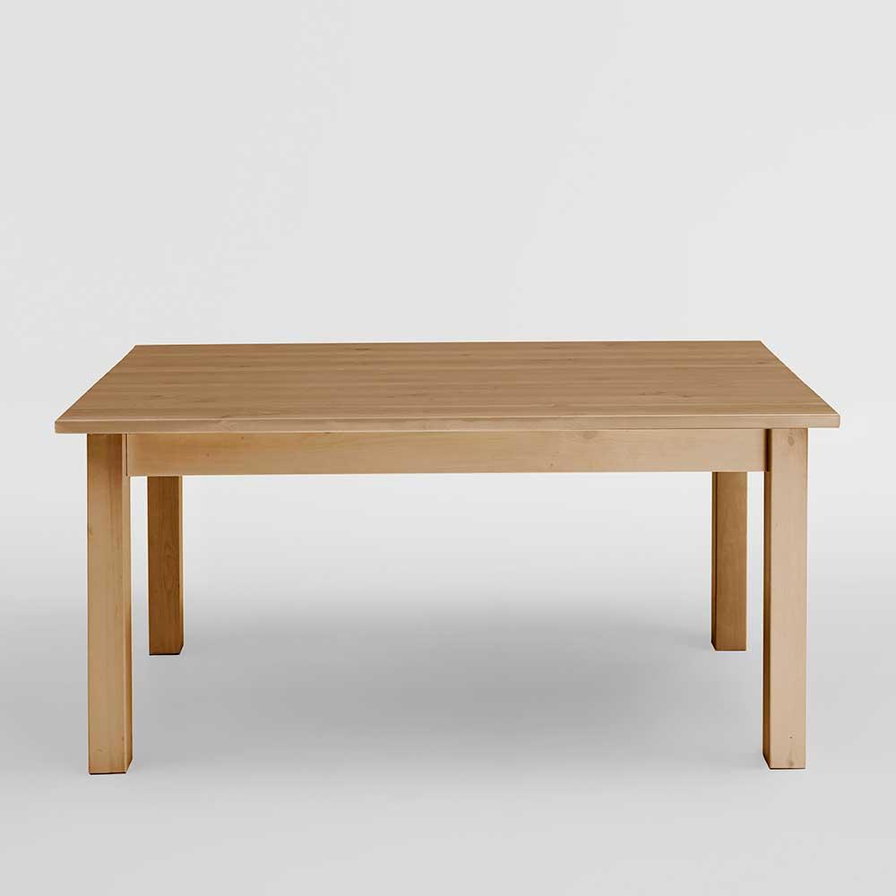 Massivholztisch aus Kiefer gebeizt und geölt verlängerbar günstig online kaufen