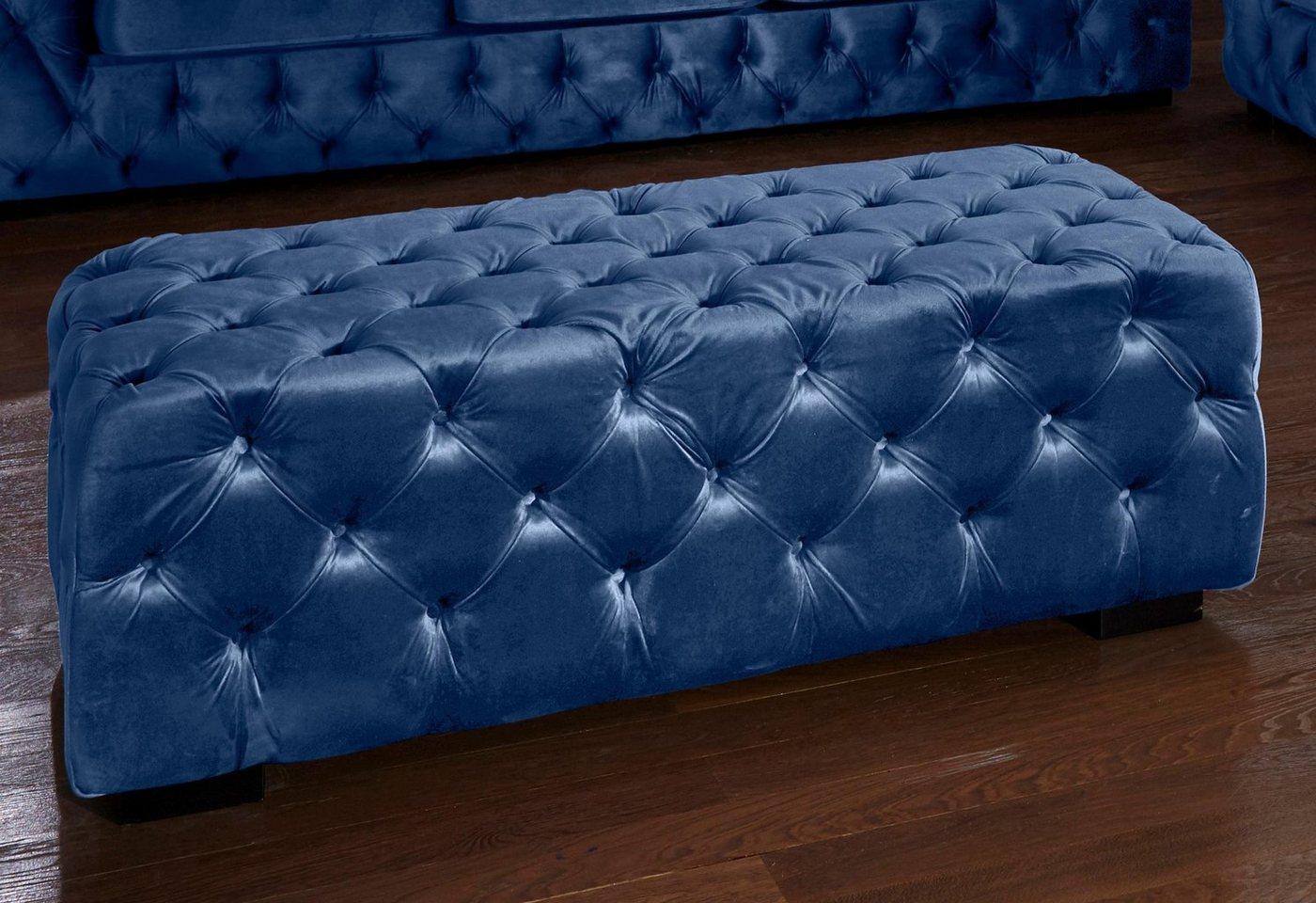 Polsterhocker »Kalina«, blau, Guido Maria Kretschmer Home&Living»Kalina« günstig online kaufen