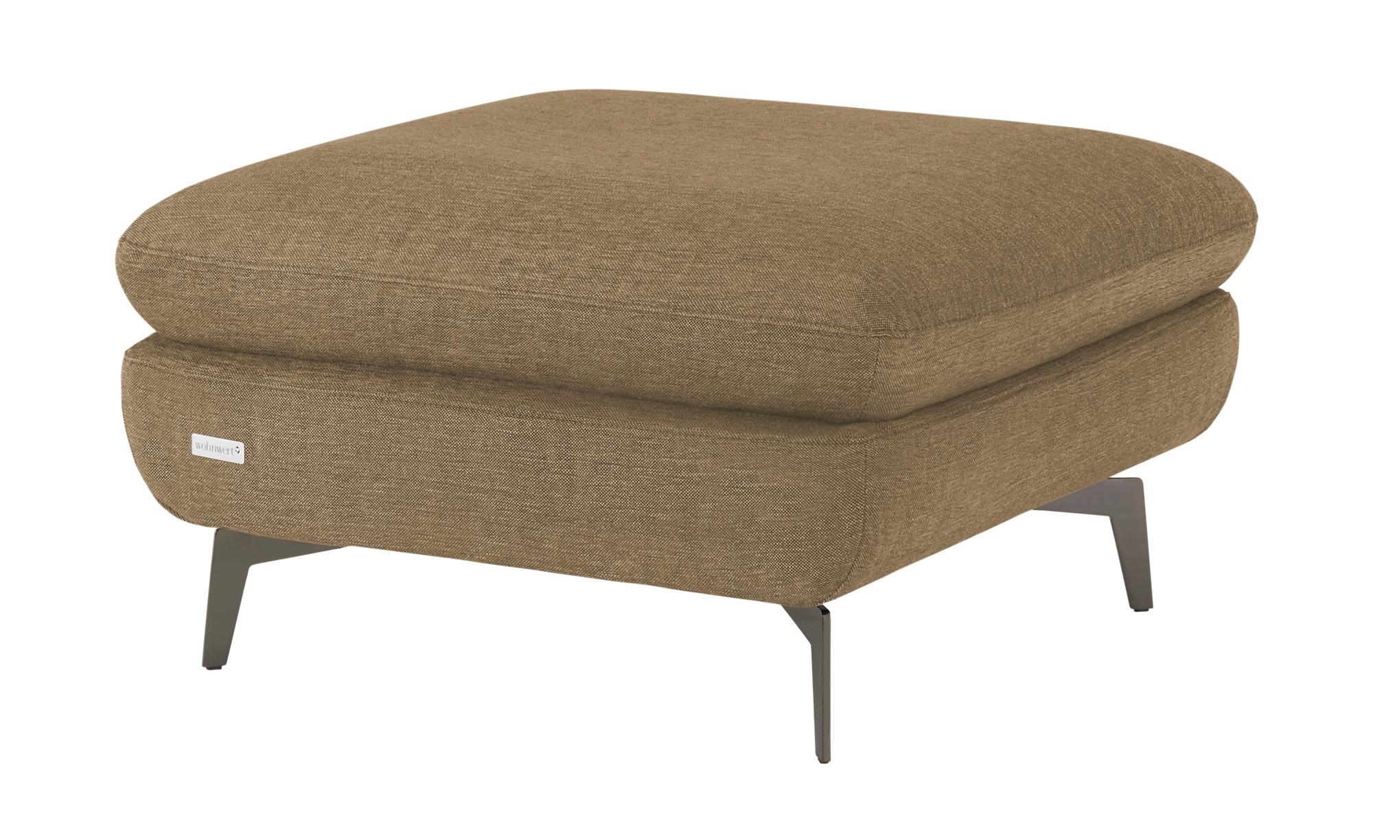 Wohnwert Polsterhocker  Amarena - braun - Polstermöbel > Hocker - Möbel Kra günstig online kaufen