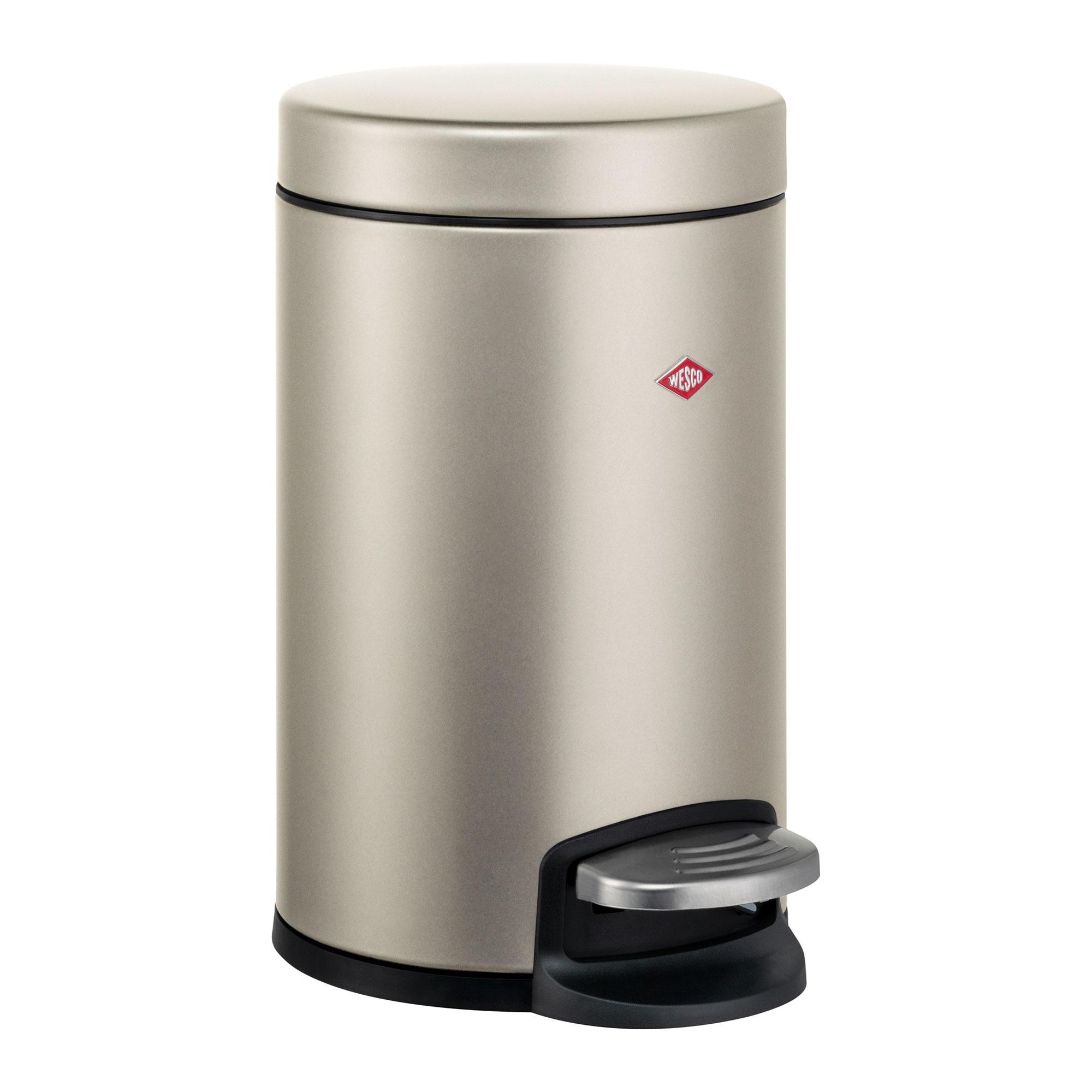 Wesco - Loft 123 Treteimer 13L - neusilber/pulverbeschichtet/H x Ø 40,5x25c günstig online kaufen