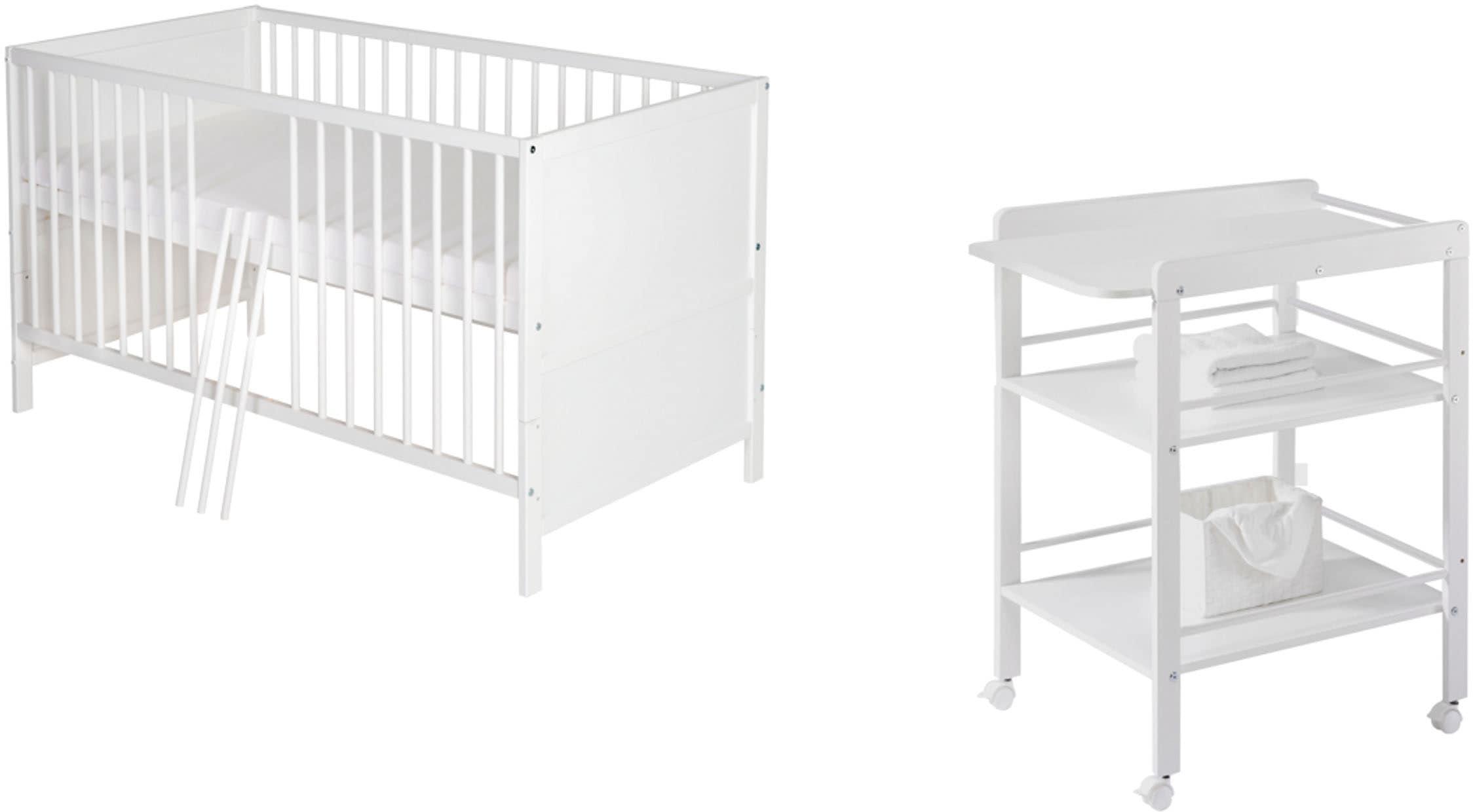 Schardt Babymöbel-Set »Lenny«, (Spar-Set, 2 St.), mit Kinderbett und Wickel günstig online kaufen