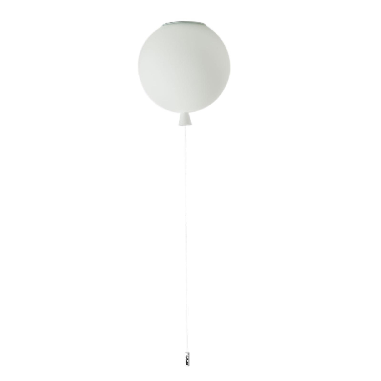 Brokis - Memory 250 Deckenleuchte - opal/matt/H 27,5cm / Ø 25cm/Kabel weiß günstig online kaufen