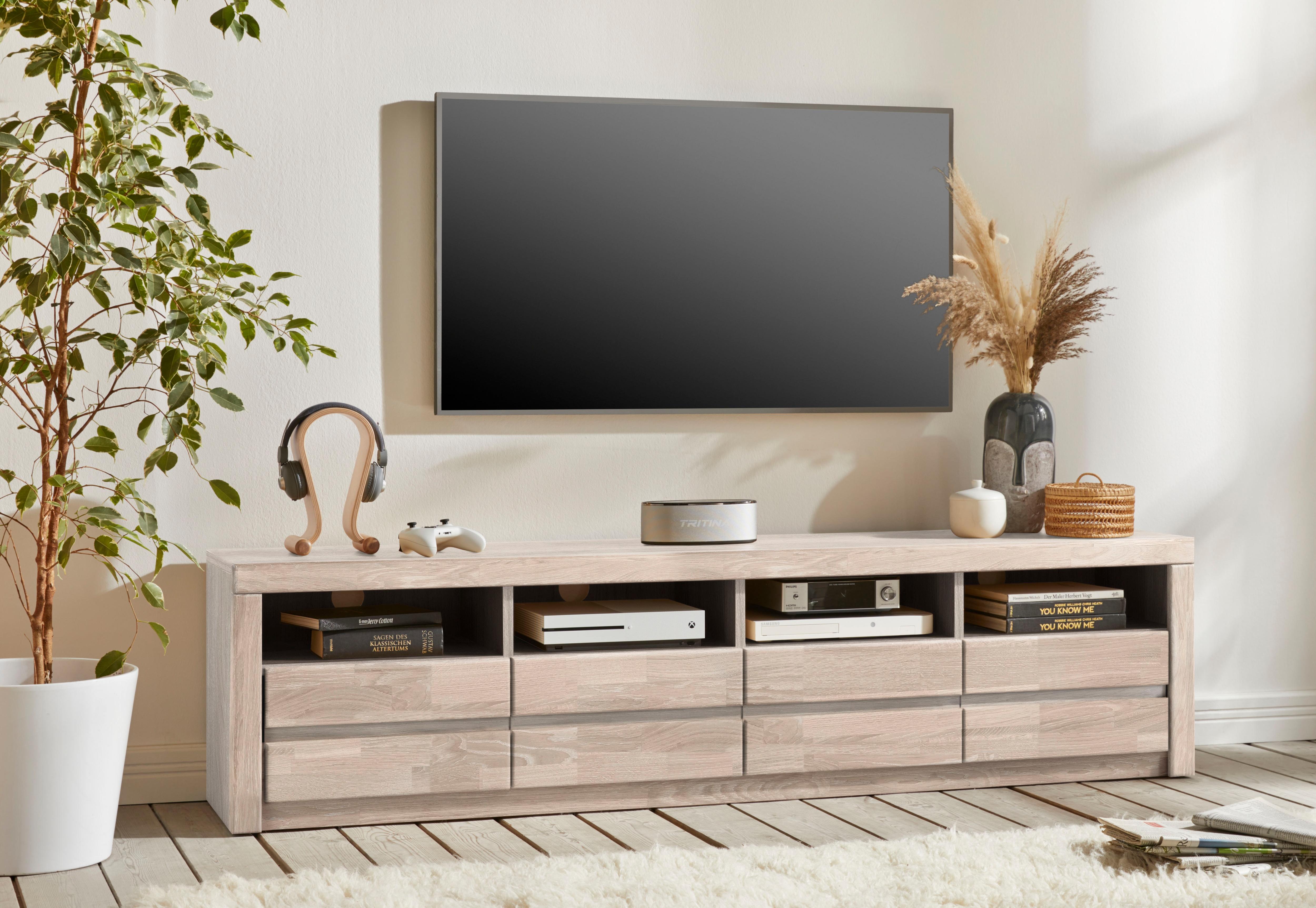 Woltra Lowboard Silkeborg, schöne grifflose Optik,Breite 180 cm günstig online kaufen