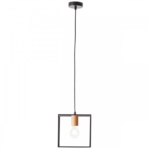BRILLIANT ARICA Pendelleuchte 110 cm Metall Schwarz / holzfarbend günstig online kaufen